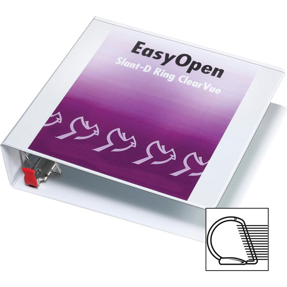 "Cardinal EasyOpen Clearvue Slant D-Ring Binders - 2"" Binder Capacity - Letter - 8 1/2"" x 11"" Sheet Size - 525 Sheet Capacity - 2 1/2"" Spine Width - 3 x D-Ring Fastener(s) - 2 Inside Front & Back Pocke. Picture 5"