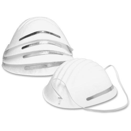 Acme United Adjustable Nose Clip Dust Mask - Adjustable - Dust Protection - Metal Nose Clip - White - 5 / Pack. Picture 2