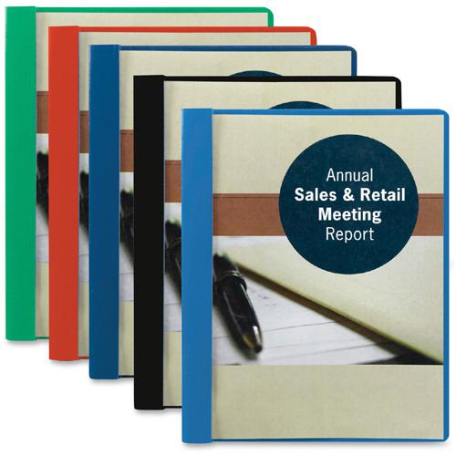 """Smead Letter Recycled Report Cover - 8 1/2"""" x 11"""" - 3 Fastener(s) - 1/2"""" Fastener Capacity for Folder - Vinyl - Blue - 50% - 25 / Box. Picture 7"""