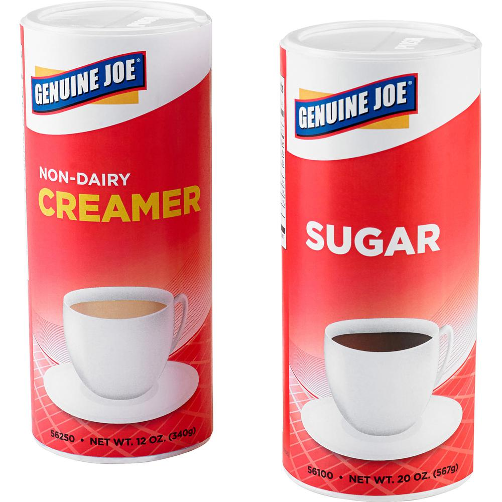Genuine Joe 20 oz. Sugar Canister - Canister - 1.2 lb (20 oz) - Natural Sweetener - 3/Pack. Picture 6