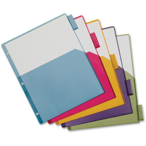 """Cardinal Extra-tough Poly Dividers - 20 Tab(s) - 5 Tab(s)/Set - 8.5"""" Divider Width x 11"""" Divider Length - Letter - 3 Hole Punched - Multicolor Poly Divider - Multicolor Poly Tab(s) - 4 / Pack. Picture 2"""
