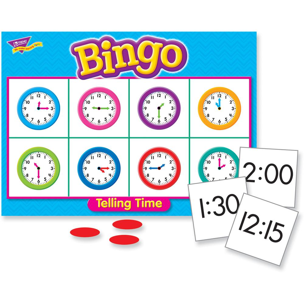 Trend Telling Time Bingo Game - Theme/Subject: Learning - Skill Learning: Time, Language - 6-8 Year. Picture 5