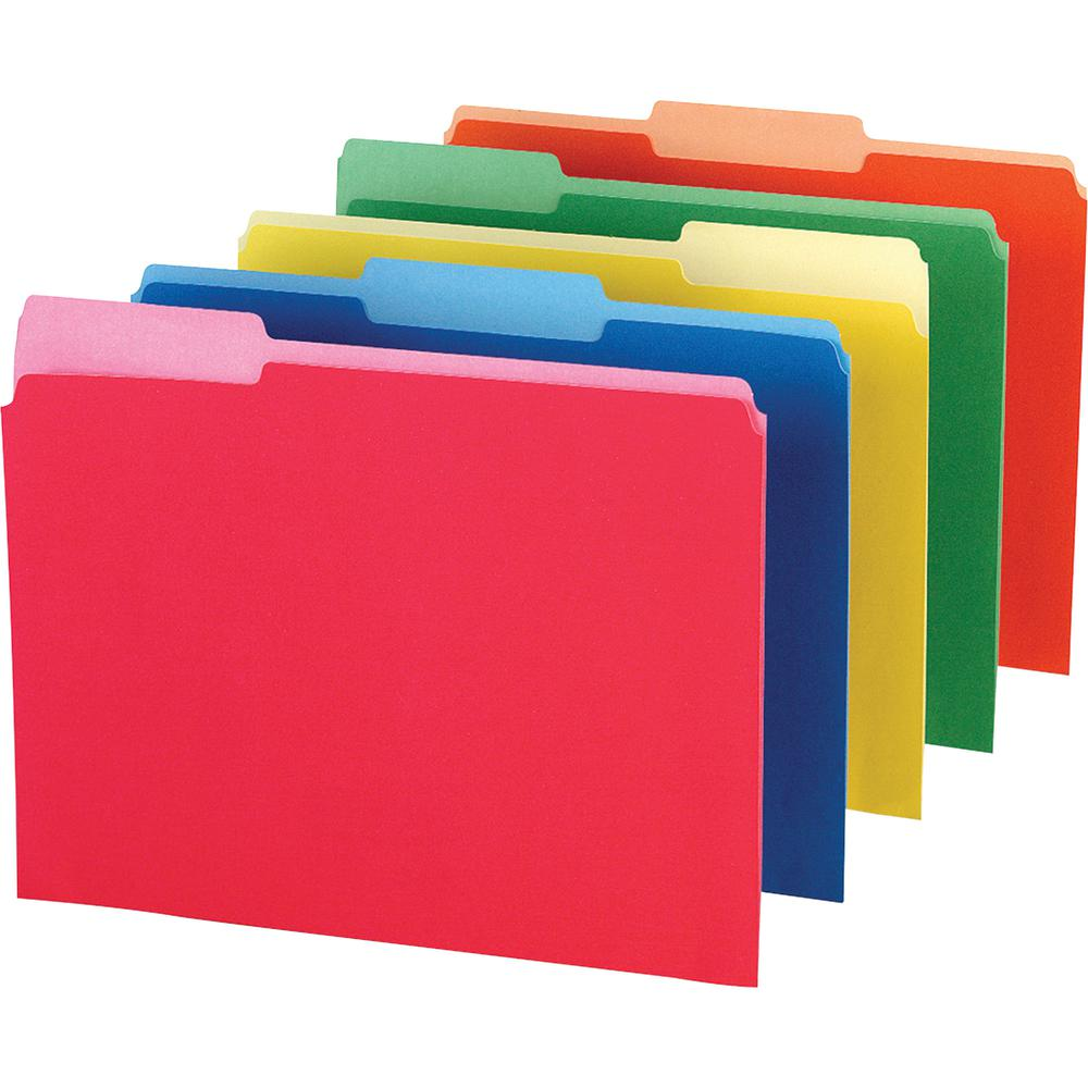 """Pendaflex 1/3 Tab Cut Legal Recycled Top Tab File Folder - 8 1/2"""" x 14"""" - Assorted - 10% - 100 / Box. Picture 2"""