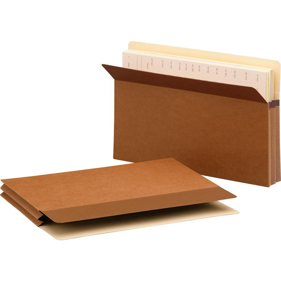 """Smead Easy Grip Straight Tab Cut Legal Recycled File Pocket - 8 1/2"""" x 14"""" - 1 3/4"""" Expansion - Redrope - Redrope - 30% - 25 / Box. Picture 8"""