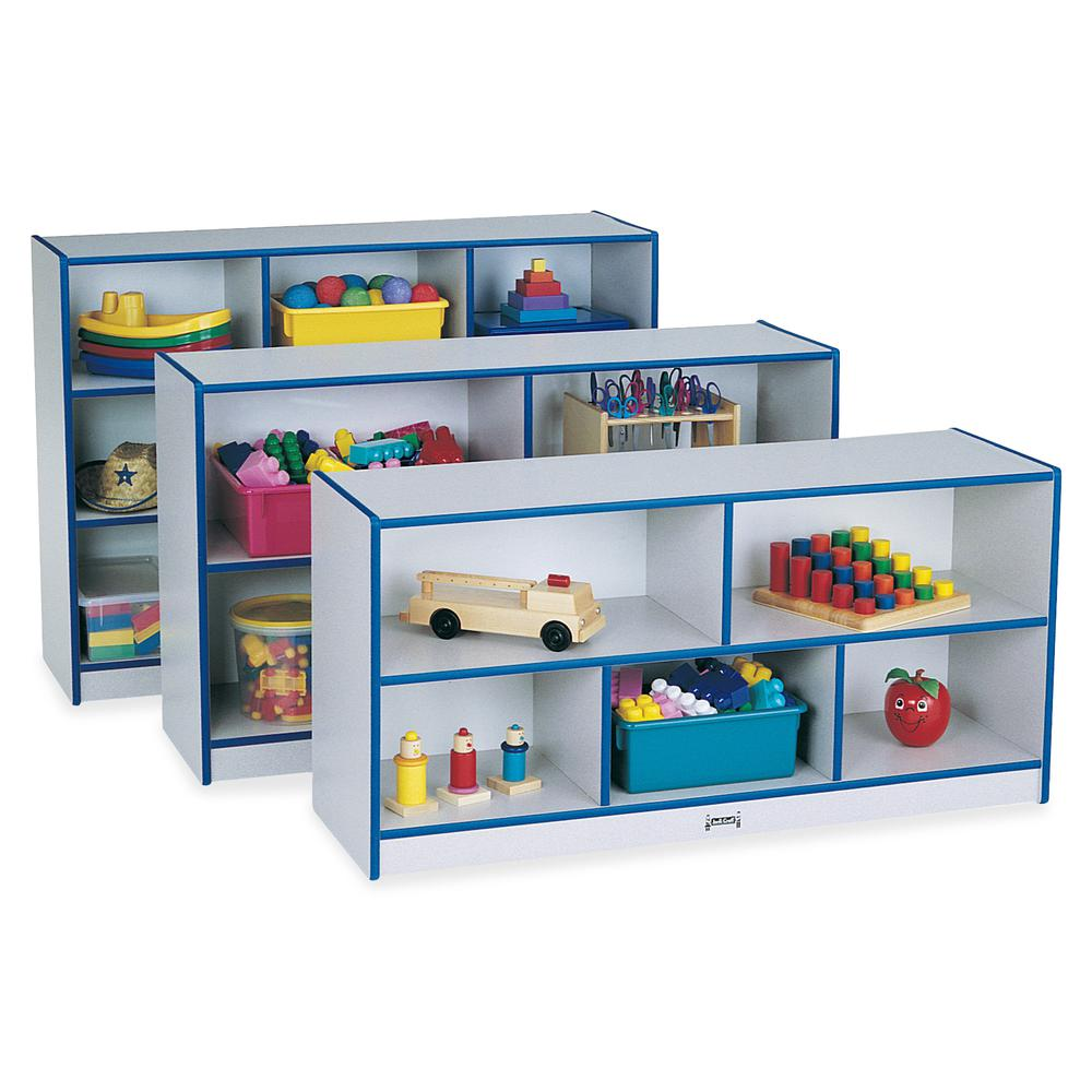 """Rainbow Accents Rainbow Super-sized Mobile Storage - 35.5"""" Height x 48"""" Width x 15"""" Depth - Floor - Teal - Hard Rubber - 1Each. Picture 3"""