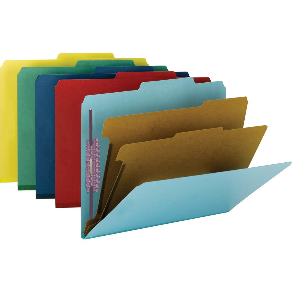 """Smead Press Guard Classification Folders with SafeSHIELD Coated Fastener Technology - Letter - 8 1/2"""" x 11"""" Sheet Size - 2"""" Expansion - 2 x 2S Fastener(s) - 2"""" Fastener Capacity for Folder, 1"""" Fastene. Picture 2"""