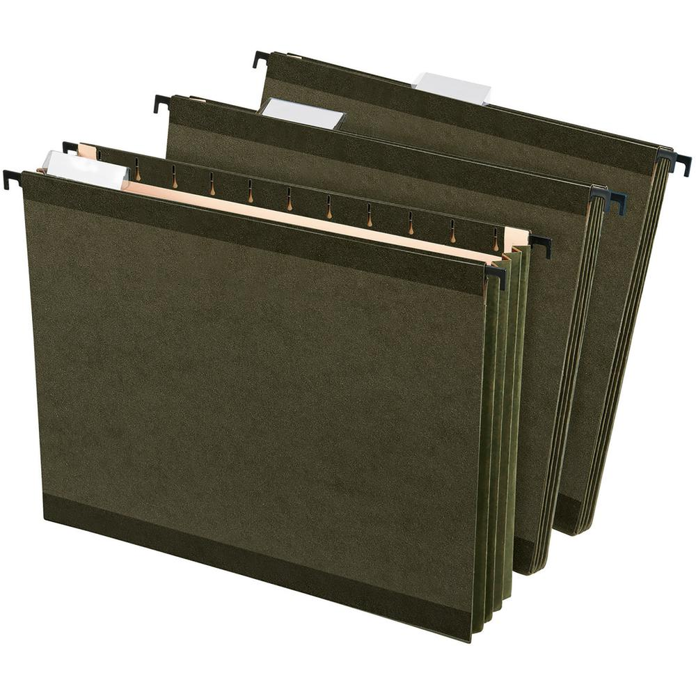 """Pendaflex SureHook Letter Recycled Hanging Folder - 3 1/2"""" Folder Capacity - 8 1/2"""" x 11"""" - 3 1/2"""" Expansion - Poly - Standard Green - 10% - 4 / Pack. Picture 3"""