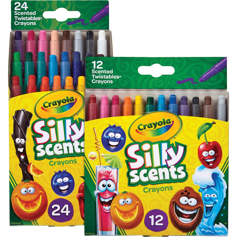 Crayola Silly Scents Mini Twistables Crayons - Assorted - 288 / Carton