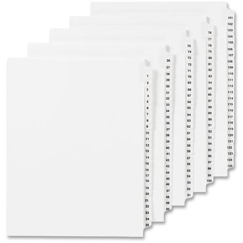 """Avery® Individual Legal Exhibit Dividers - Avery Style - 1 Printed Tab(s) - Digit - 29 - 1 Tab(s)/Set - 8.5"""" Divider Width x 11"""" Divider Length - Letter - White Paper Divider - Paper Tab(s) - 25 /. Picture 2"""