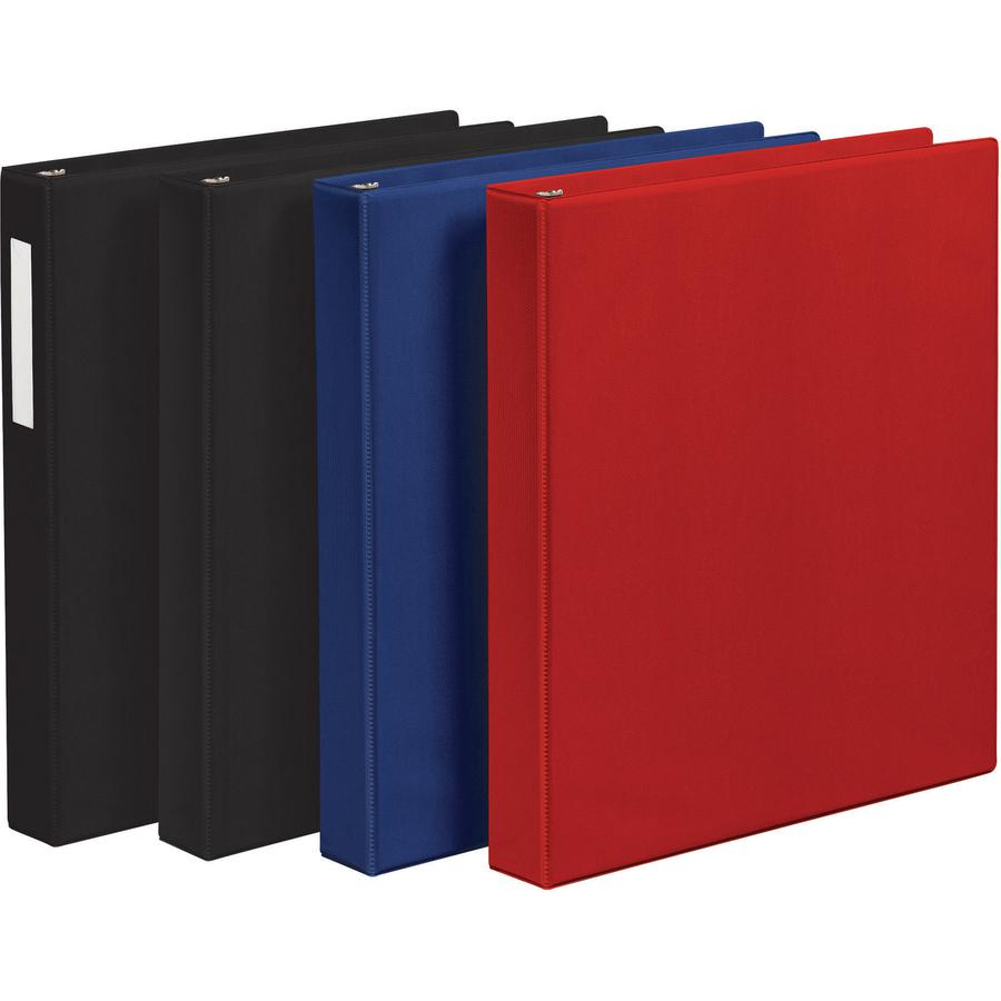 """Avery® Economy Binder - 1"""" Binder Capacity - Letter - 8 1/2"""" x 11"""" Sheet Size - 175 Sheet Capacity - 3 x Round Ring Fastener(s) - 2 Internal Pocket(s) - Vinyl - Red - Recycled - Non Locking Mechan. Picture 5"""