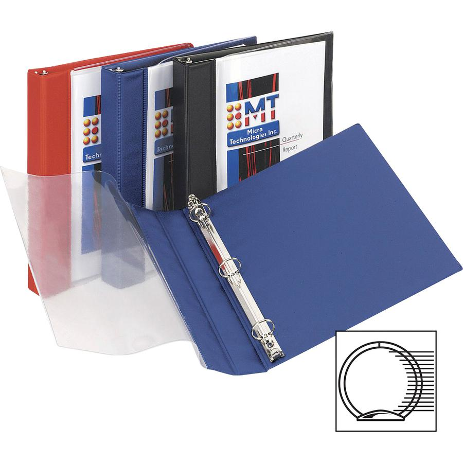 "Avery® See-Thru Binders - 1"" Binder Capacity - Letter - 8 1/2"" x 11"" Sheet Size - 175 Sheet Capacity - 3 x Round Ring Fastener(s) - Vinyl - Blue - Recycled - Gap-free Ring, See-through - 1 Each. Picture 4"