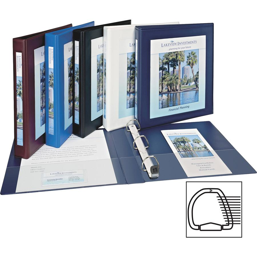 """Avery® Heavy-Duty Framed View 3-Ring Binder - 1"""" Binder Capacity - Letter - 8 1/2"""" x 11"""" Sheet Size - 275 Sheet Capacity - 3 x Ring Fastener(s) - 2 Internal Pocket(s) - Vinyl - White - Recycled - . Picture 9"""