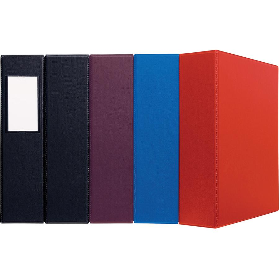 """Avery® 5"""" Heavy-Duty Binder - 5"""" Binder Capacity - Letter - 8 1/2"""" x 11"""" Sheet Size - 1050 Sheet Capacity - Ring Fastener(s) - 4 Internal Pocket(s) - Polypropylene - Maroon - Recycled - Pocket, He. Picture 3"""