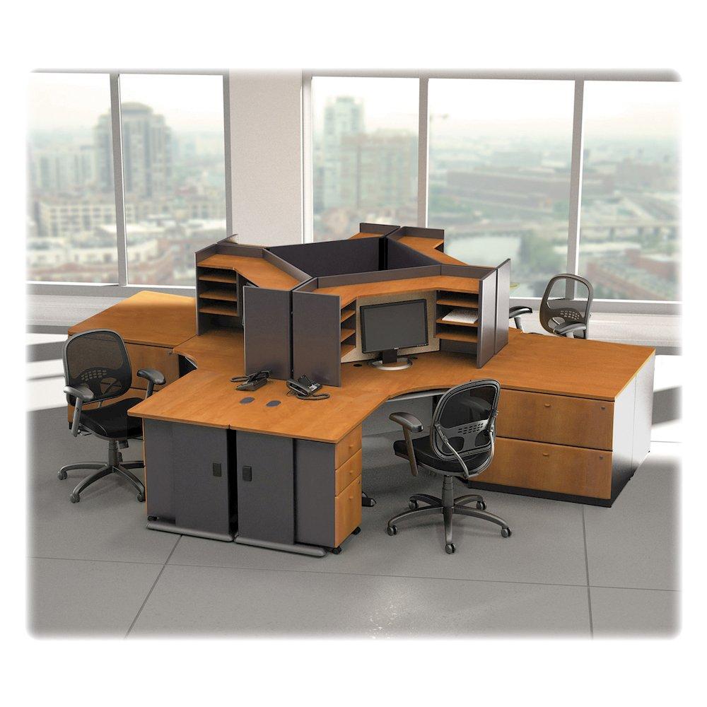 "Bush Business Furniture Series A 3 Drawer Mobile Pedestal - Assembled - 15.5"" x 20.3"" x 28.2"" - 3 x File Drawer(s) - Material: Pressboard, Melamine, Hardwood, Engineered Wood, Wood - Finish: Laminate,. Picture 7"