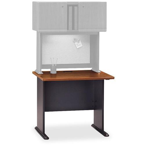 Bush Business Furniture Series A 48W Desk, Hansen Cherry/Galaxy. Picture 3
