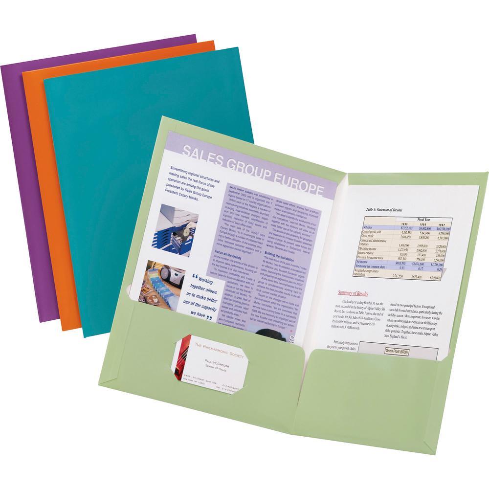 "Oxford Letter Pocket Folder - 8 1/2"" x 11"" - 150 Sheet Capacity - 2 Pocket(s) - Purple - 25 / Box. Picture 2"
