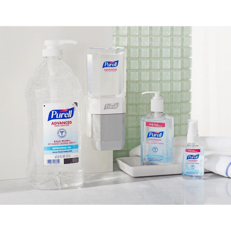 PURELL® Sanitizing Gel - 67.6 fl oz (2 L) - Pump Bottle Dispenser - Hand - Clear - 1 Each. Picture 4