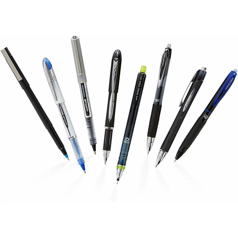 uni-ball Extra Large Grip Rollerball Pens - Micro Pen Point - 0.5 mm Pen Point Size - Black - 12 / Dozen. Picture 3