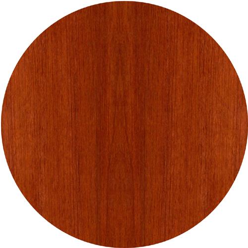 """Glass Door Hutch - 72"""" Width x 15"""" Depth x 50.5"""" Height - Veneer, Wood - Sierra Cherry. Picture 4"""