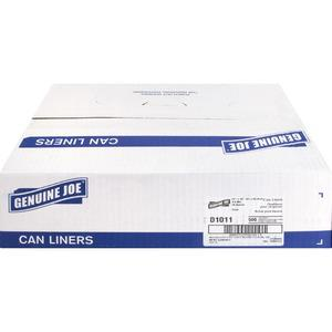 """Genuine Joe Clear Trash Can Liners - Small Size - 16 gal - 24"""" Width x 33"""" Length x 0.60 mil (15 Micron) Thickness - Low Density - Clear - 500/Carton. Picture 7"""