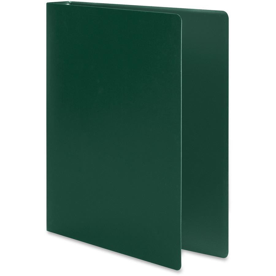 "Wilson Jones ACCOHIDE Binder - 1"" Binder Capacity - Letter - 8 1/2"" x 11"" Sheet Size - 175 Sheet Capacity - Round Ring Fastener(s) - 35 pt. Binder Thickness - Polypropylene - Dark Green - Eco-friendly. Picture 6"