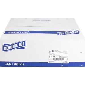 """Genuine Joe High-density Can Liners - Large Size - 45 gal - 40"""" Width x 48"""" Length x 0.63 mil (16 Micron) Thickness - High Density - Clear - Resin - 250/Carton - Office Waste, Industrial Trash. Picture 8"""