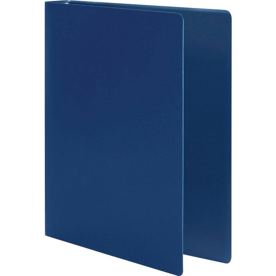 "Wilson Jones AccoHide Binder - 1/2"" Binder Capacity - Letter - 8 1/2"" x 11"" Sheet Size - 120 Sheet Capacity - Round Ring Fastener(s) - 23 pt. Binder Thickness - Polypropylene - Blue - Eco-friendly, PV. Picture 2"