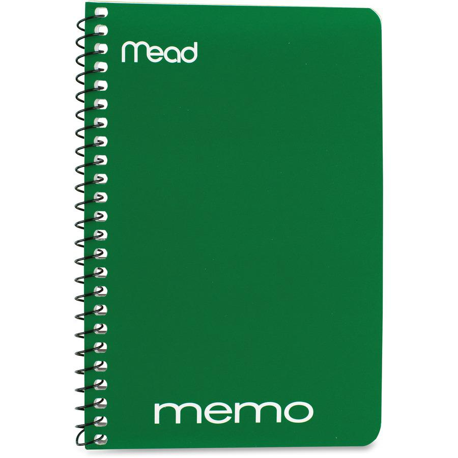 """Mead Wirebound Memo Notebook - 40 Sheets - Wire Bound - 4"""" x 6"""" - Assorted Paper - Tan Cover - Board Cover - 1 / Each. Picture 3"""