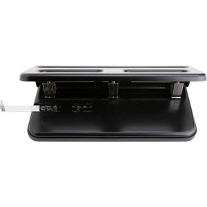 """Business Source Heavy-duty 3-hole Punch - 3 Punch Head(s) - 30 Sheet Capacity - 9/32"""" Punch Size - Black. Picture 9"""