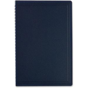 """Blueline Duraflex Notebook - 160 Sheets - Twin Wirebound - Ruled - 9 1/2"""" x 6"""" - Blue Cover Textured - Poly Cover - Micro Perforated, Flexible Cover, Wear Resistant, Tear Resistant - Recycled - 1Each. Picture 3"""