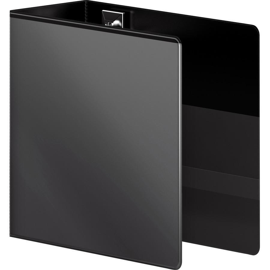 "Wilson Jones Extra Durable Hinge Ultra-Duty View Binder - 5"" Binder Capacity - Letter - 8 1/2"" x 11"" Sheet Size - 1050 Sheet Capacity - D-Ring Fastener(s) - 4 Internal Pocket(s) - Polypropylene - Blac. Picture 6"