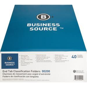 """Business Source 3/4"""" Expanding Medical File Folders - Letter - 8 1/2"""" x 11"""" Sheet Size - 3/4"""" Expansion - 2"""" Fastener Capacity - End Tab Location - 11 pt. Folder Thickness - Manila - Recycled - 40 / B. Picture 6"""