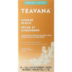 Teavana Ginger Peach Green Tea - Green Tea - Ginger Peach - 1.7 oz - 24 / Box. Picture 4