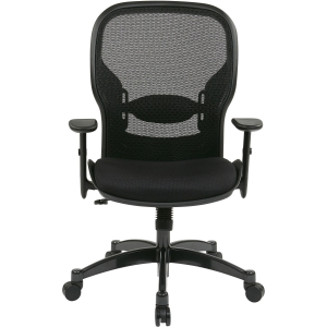 """Office Star Space 2300 Matrex Managerial Mid-Back Mesh Chair - Mesh Black Seat - Mesh Back - 5-star Base - Black - 20"""" Seat Width x 19.50"""" Seat Depth - 27.3"""" Width x 25.8"""" Depth x 46.3"""" Height. Picture 4"""