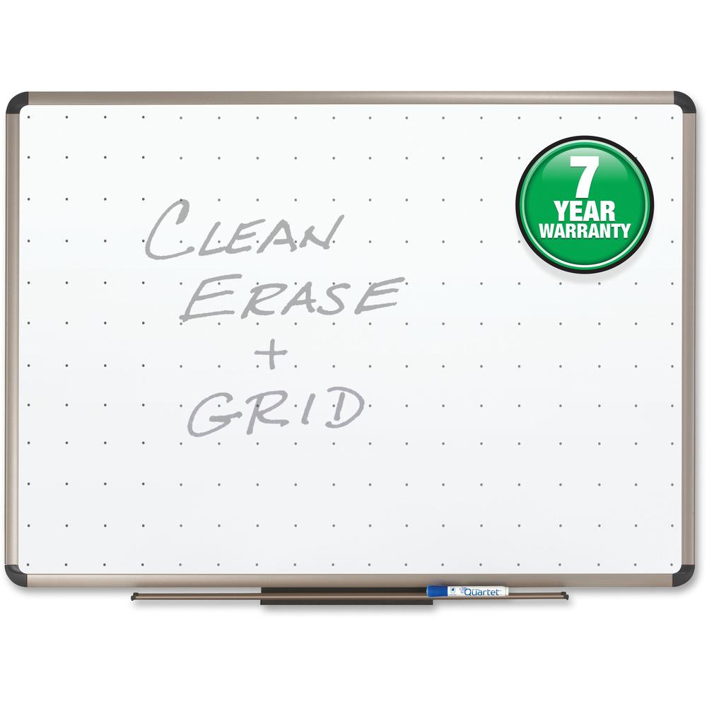 "Quartet® Prestige® Total Erase® Whiteboard - 72"" (6 ft) Width x 48"" (4 ft) Height - White Surface - Titanium Aluminum Frame - Horizontal - 1 Each. Picture 6"