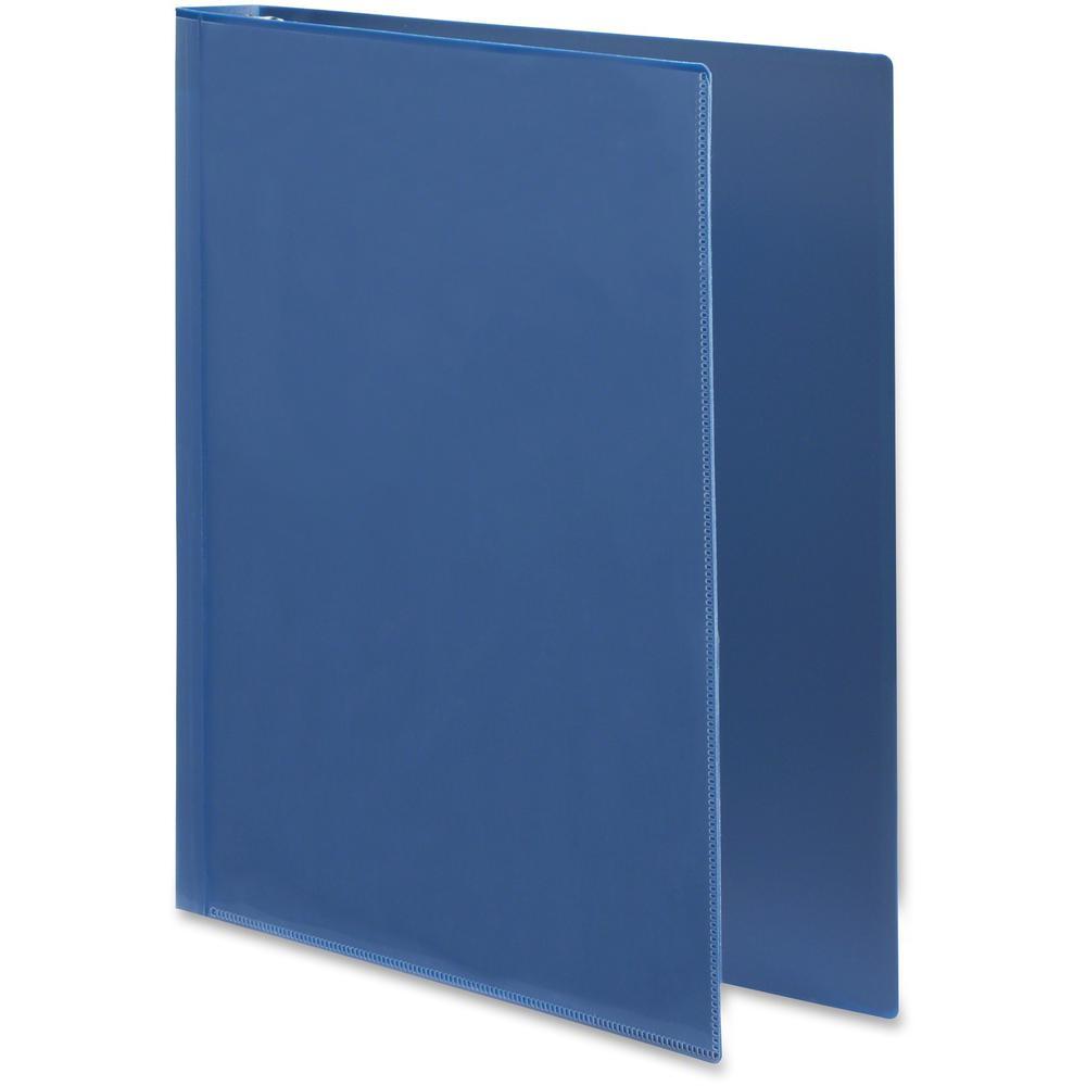 "Wilson Jones Flex Poly View Binder - 1"" Binder Capacity - Letter - 8 1/2"" x 11"" Sheet Size - 175 Sheet Capacity - Round Ring Fastener(s) - 1 Internal Pocket(s) - Polypropylene - Blue - PVC-free, Tear . Picture 4"