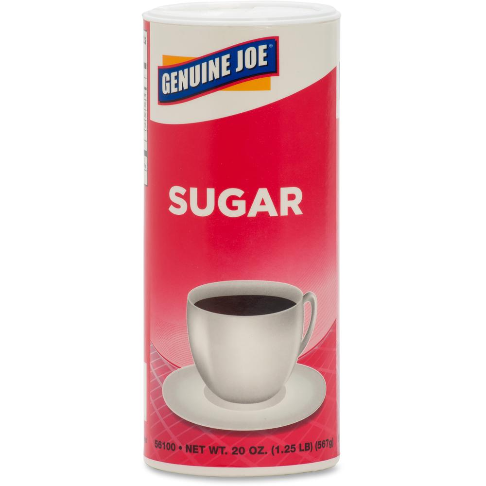 Genuine Joe 20 oz. Sugar Canister - Canister - 1.2 lb (20 oz) - Natural Sweetener - 3/Pack. Picture 5