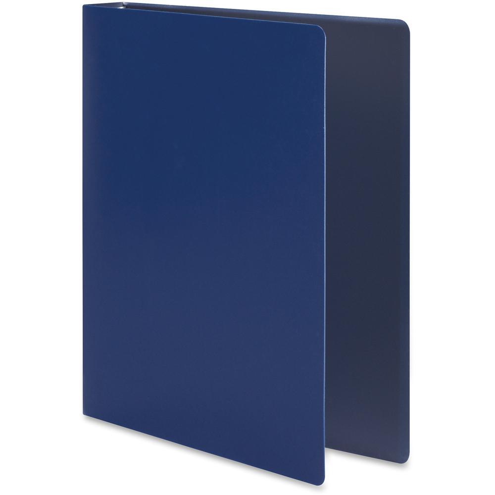 "Wilson Jones ACCOHIDE Binder - 1"" Binder Capacity - Letter - 8 1/2"" x 11"" Sheet Size - 175 Sheet Capacity - Round Ring Fastener(s) - 35 pt. Binder Thickness - Polypropylene - Blue - Eco-friendly, PVC-. Picture 7"