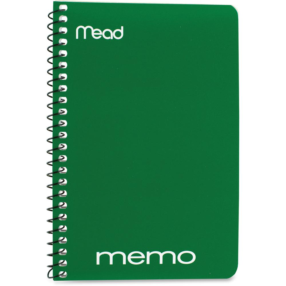 """Mead Wirebound Memo Notebook - 40 Sheets - Wire Bound - 4"""" x 6"""" - Assorted Paper - Tan Cover - Board Cover - 1 / Each. Picture 4"""