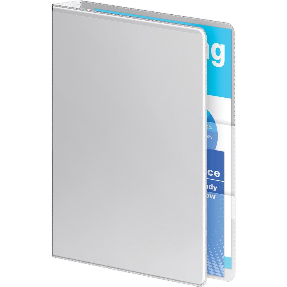"Wilson Jones Ultra-Duty View Binder - Extra-Durable Hinge - 1 1/2"" Binder Capacity - Letter - 8 1/2"" x 11"" Sheet Size - 350 Sheet Capacity - Round Ring Fastener(s) - 4 Internal Pocket(s) - Polypropyle. Picture 6"