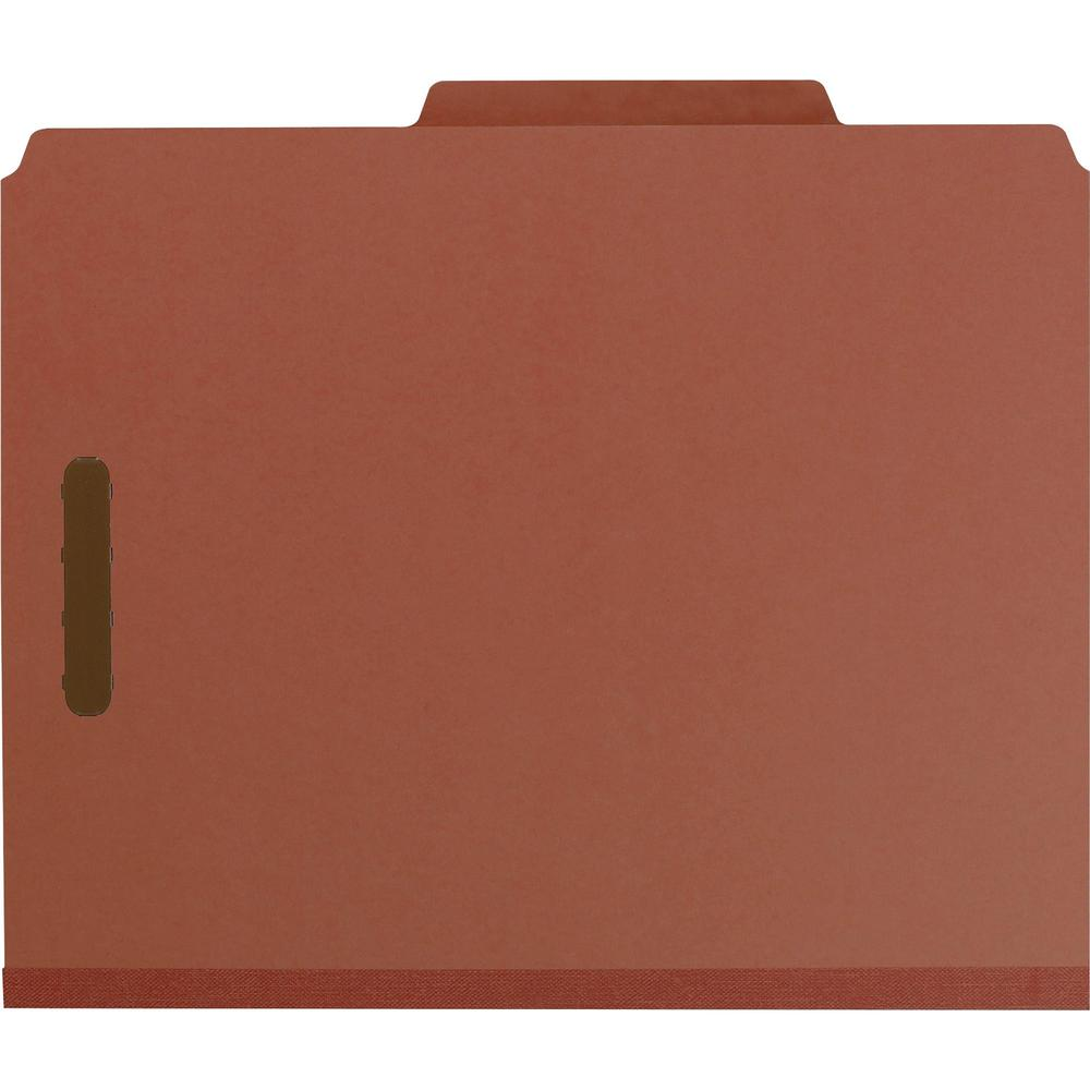 """Smead 100% Recycled Classification Folders - Letter - 8 1/2"""" x 11"""" Sheet Size - 2"""" Expansion - 2 x 2K Fastener(s) - 1"""" Fastener Capacity, 2"""" Fastener Capacity - 2/5 Tab Cut - Top Tab Location - Right . Picture 3"""