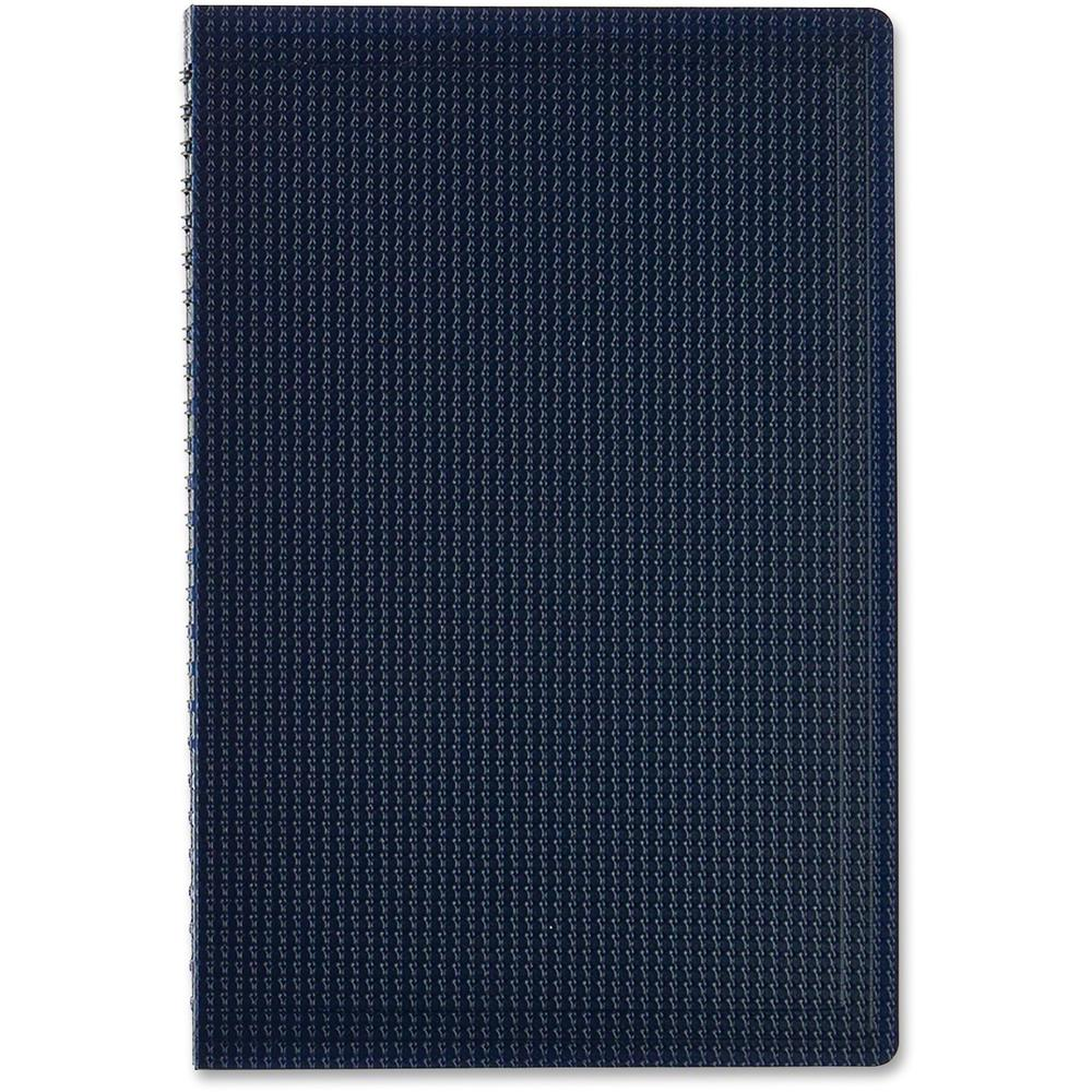 """Blueline Duraflex Notebook - 160 Sheets - Twin Wirebound - Ruled - 9 1/2"""" x 6"""" - Blue Cover Textured - Poly Cover - Micro Perforated, Flexible Cover, Wear Resistant, Tear Resistant - Recycled - 1Each. Picture 4"""