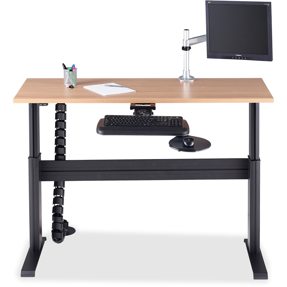 Lorell Height Adjustable Workstation Tabletop Latte 60