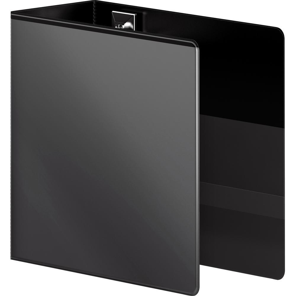 "Wilson Jones Extra Durable Hinge Ultra-Duty View Binder - 5"" Binder Capacity - Letter - 8 1/2"" x 11"" Sheet Size - 1050 Sheet Capacity - D-Ring Fastener(s) - 4 Internal Pocket(s) - Polypropylene - Blac. Picture 4"
