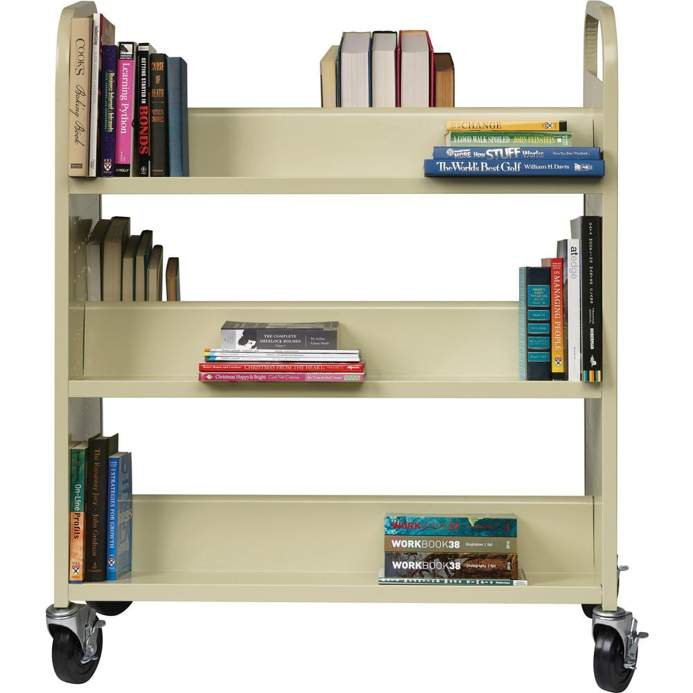Lorell Double Sided Book Cart 6 Shelf 200 Lb Capacity
