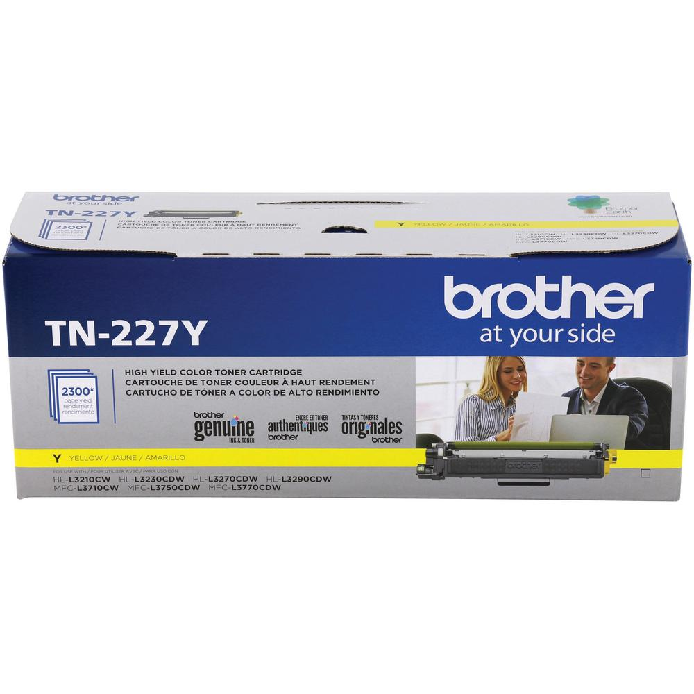 Brother Genuine TN-227Y High Yield Yellow Toner Cartridge - Laser - High Yield - 2300 Pages - 1 Each. Picture 2