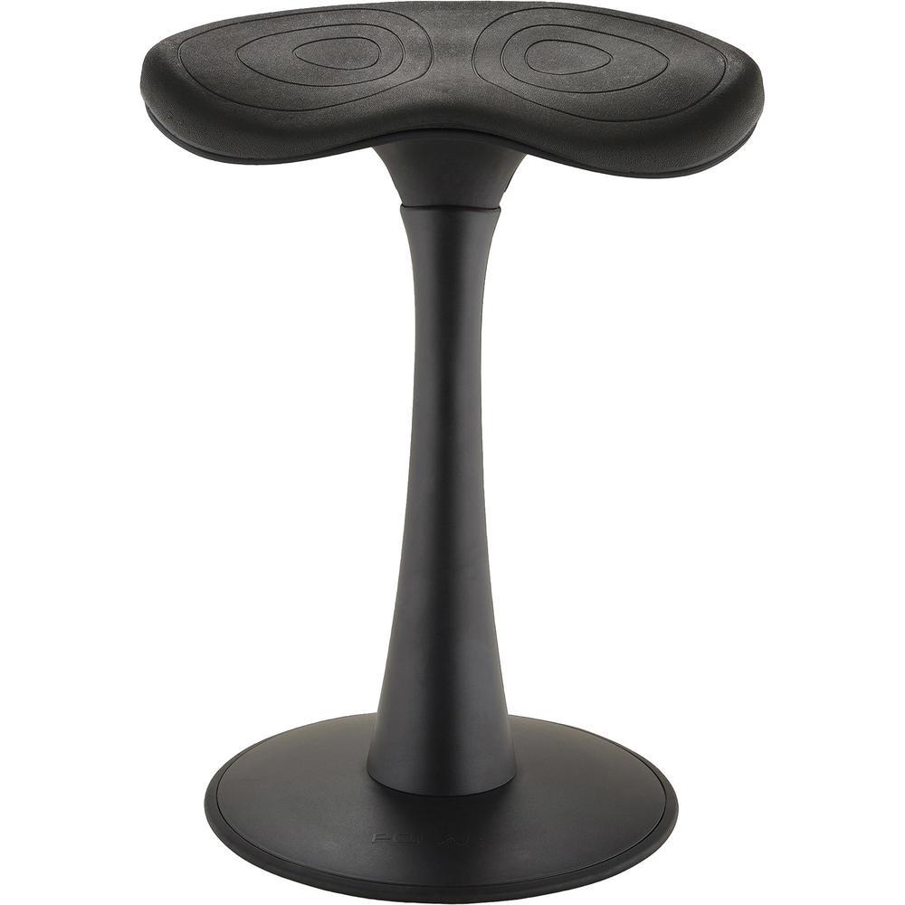 "Safco Fidget Active Seating - Ethylene Vinyl Acetate (EVA) Seat - Black - ABS Plastic, Nylon, Steel - 15.87"" Seat Width x 10.50"" Seat Depth - 16.3"" Width x 13.3"" Depth x 22.8"" Height - 1 Each. Picture 6"