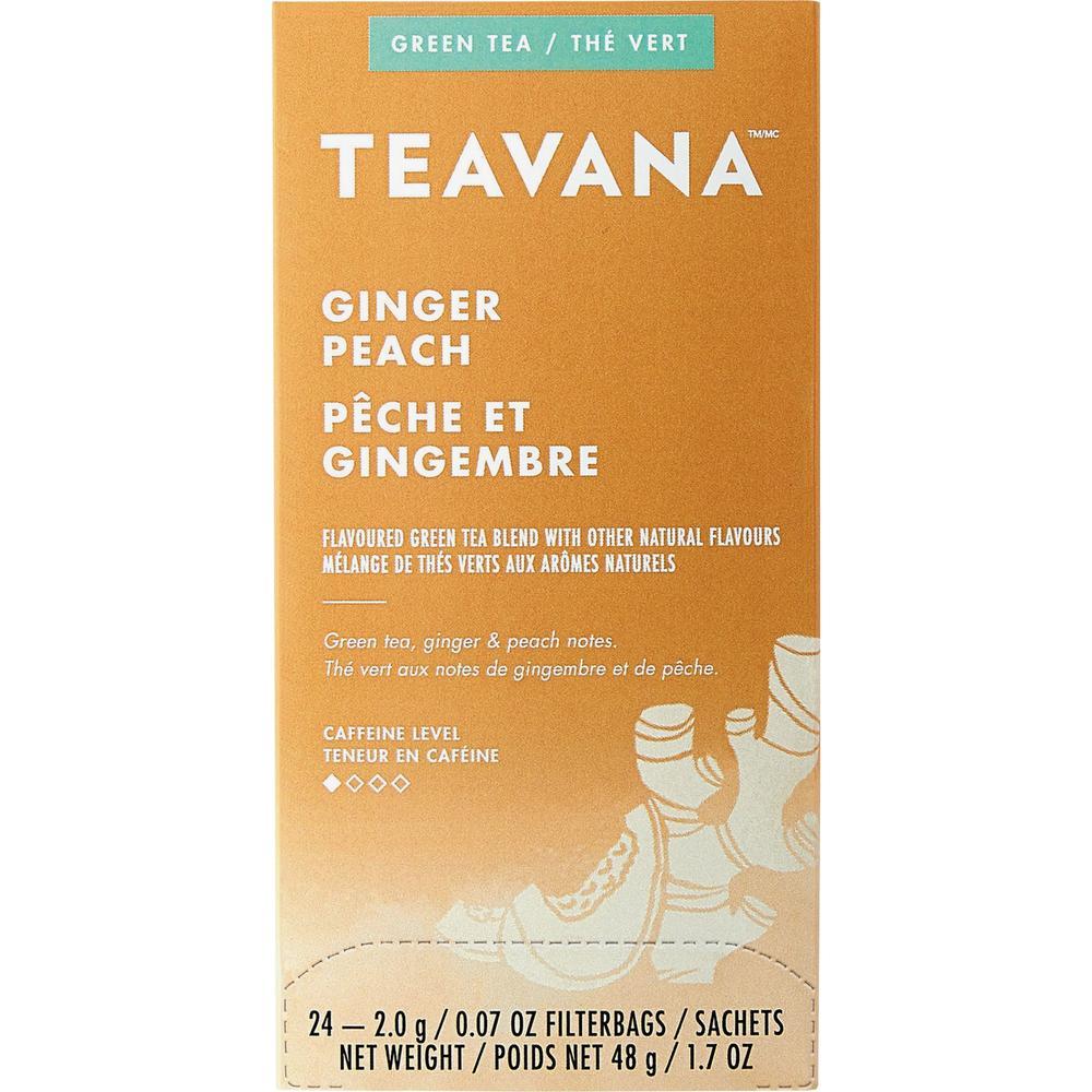 Teavana Ginger Peach Green Tea - Green Tea - Ginger Peach - 1.7 oz - 24 / Box. Picture 3