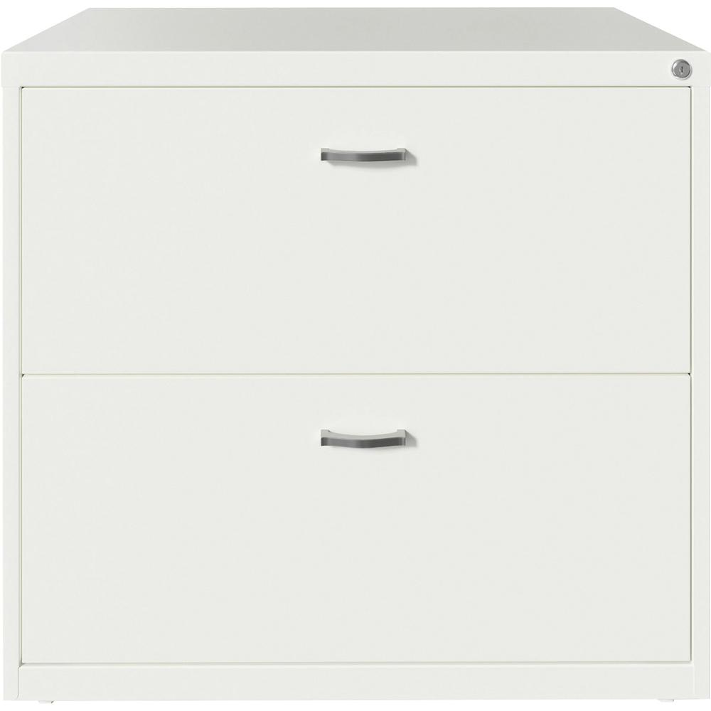 """Lorell SOHO Arc Pull Steel Lateral File - 30"""" x 17.6"""" x 27.8"""" - 2 x Drawer(s) for File - Letter - Lateral - Pull-out Drawer, Durable, Hanging Rail, Interlocking, Anti-tip Locking, Ball-bearing Suspens. Picture 2"""