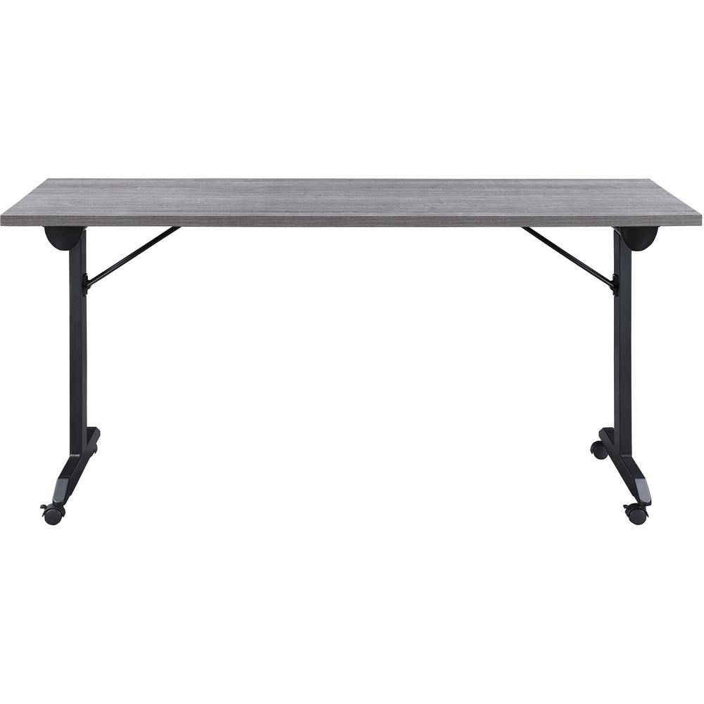 """Lorell Mobile Folding Training Table - Rectangle Top - Powder Coated Base - 23.63"""" Table Top Length x 29.50"""" Table Top Width - 63"""" Height - Assembly Required - Weathered Charcoal. Picture 10"""